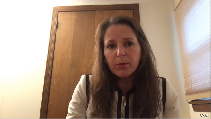 Sarah Moriarty, daughter of American Robert Levinson, who went missing in Iran in 2007, speaks to VOA Persian, Nov. 4, 2019.