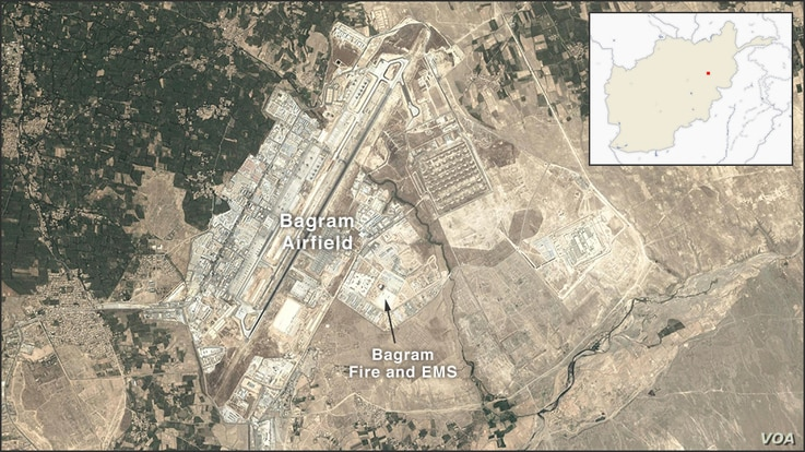 Map of Bagram Airbase, Afghanistan