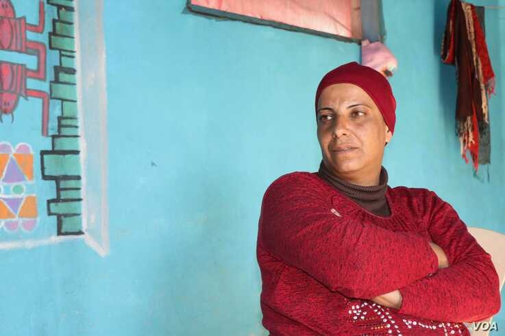 Yousra, a Syrian refugee from Damascus, says despite increasing harassment, she believes Lebanese people should continue to demonstrate for basic rights, , in the Bekkaa Valley, Lebanon, Nov. 30, 2019. (Heather Murdock/VOA)