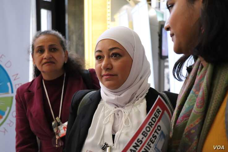 Shaza Alrihawi of the Global Refugee Network was one of the 60 refugees attending the 3000-person refugee conference on Dec. 17, 2019 in Geneva.