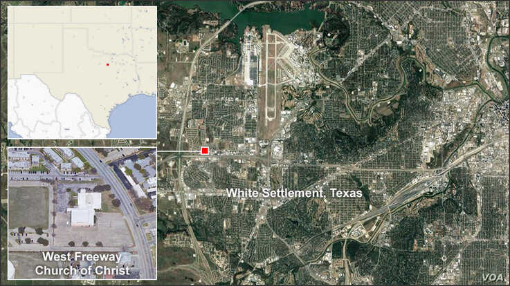 Map of West Freeway Church of Christ, White Settlement, Texas