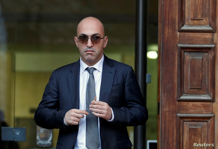 Maltese businessman Yorgen Fenech, who was arrested in connection with an investigation into the murder of journalist Daphne Caruana Galizia, leaves the Courts of Justice in Valletta, Malta, Nov. 29, 2019.