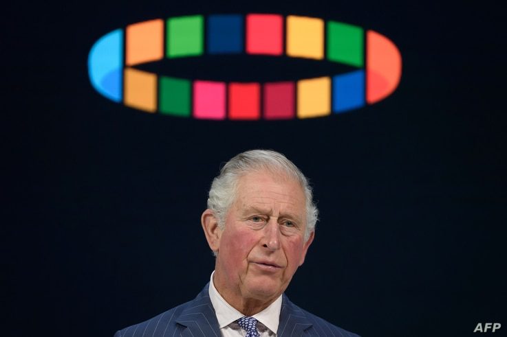 Britain's Prince Charles, Prince of Wales, delivers a speech at the World Economic Forum during the World Economic Forum annual meeting in Davos, Switzerland, Jan. 22, 2020.