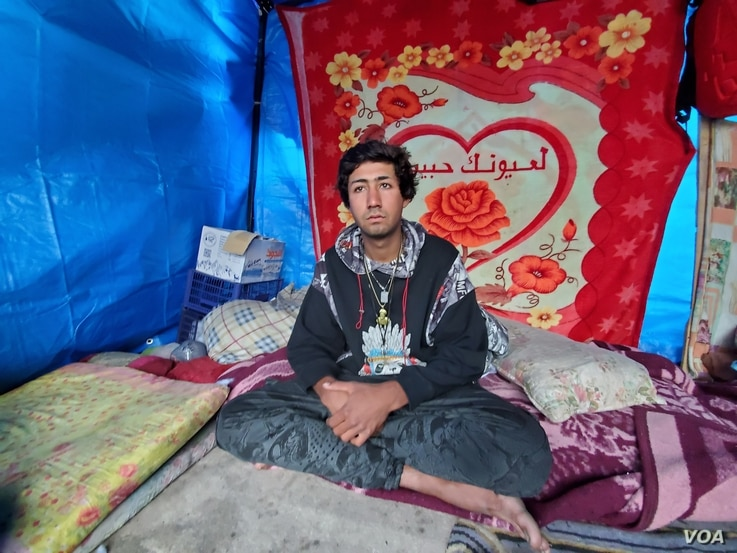 Moussa, 22, says he supports Muqtada al-Sadr and will join protests against U.S. military involvement in Iraq on Friday, pictured on Jan. 21, 2020. (H.Murdock/VOA)