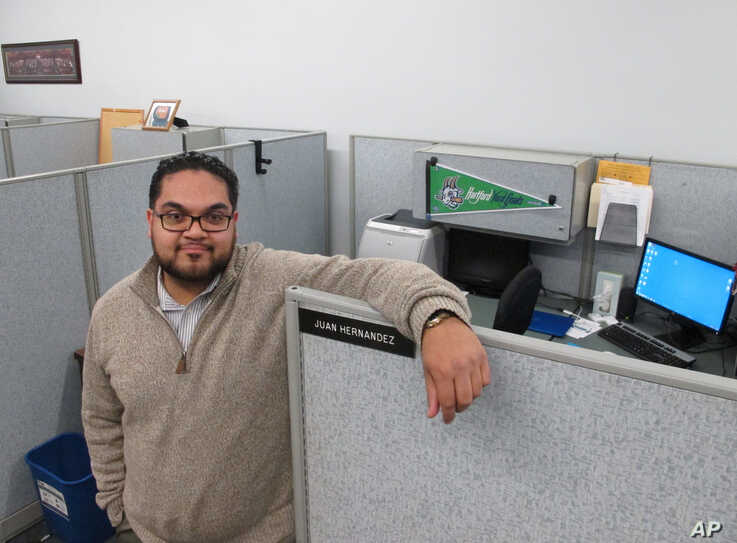 Juan Hernandez of Hartford, Conn., was among millennials nationwide with student debt who worried about being able to qualify for a loan, March 7, 2016.