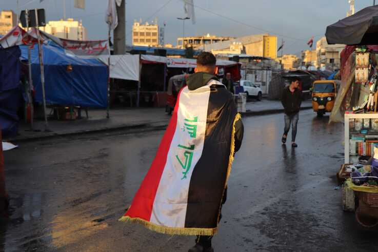 Despite clashes between Iran and the U.S. in Iraq, protests continue daily in Baghdad on Jan. 21, 2020. (H.Murdock/VOA)