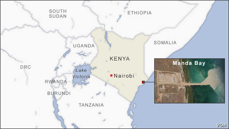 Map of Manda Bay Kenya