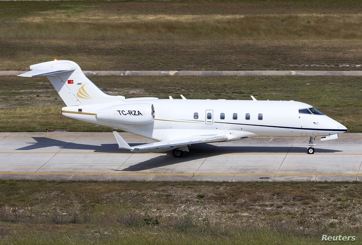 TC-RZA, a private jet which was used during the escape of ousted Nissan chairman Carlos Ghosn from Japan to Lebanon through…