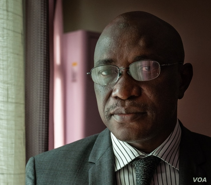 Dr. Ousmane Gueye, director of Senegal's National Service of Education and Health Information, is seen at the Ministry of Health in Dakar, Jan. 28, 2020. (Annika Hammerschlag/VOA)