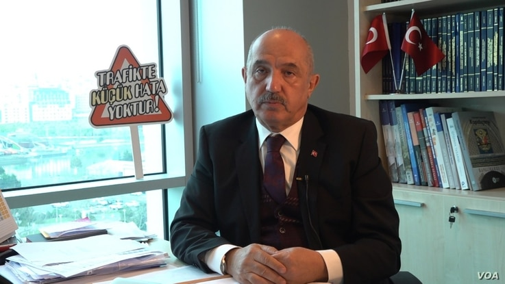 Professor of civil engineering Mustafa Ilicali, a former parliamentary deputy of the ruling AKP, says the Canal is vital as an alternative to the Bosporus with growing numbers of ships using the waterway. (Dorian Jones/VOA)