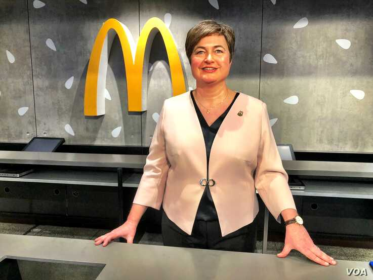 Anna Patrunina, one of the original 1990 hires and now VP of Operations of McDonald's Russia, Jan. 31, 2020.  (C. Maynes/VOA)