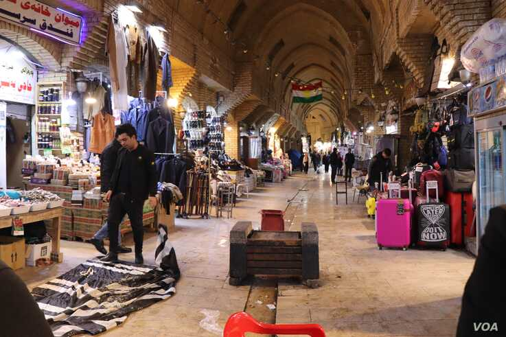 Business owners in Irbil, Iraq, and other cities say unrest due to protests is straining their economy, Jan. 25, 2020. (H.Murdock/VOA)