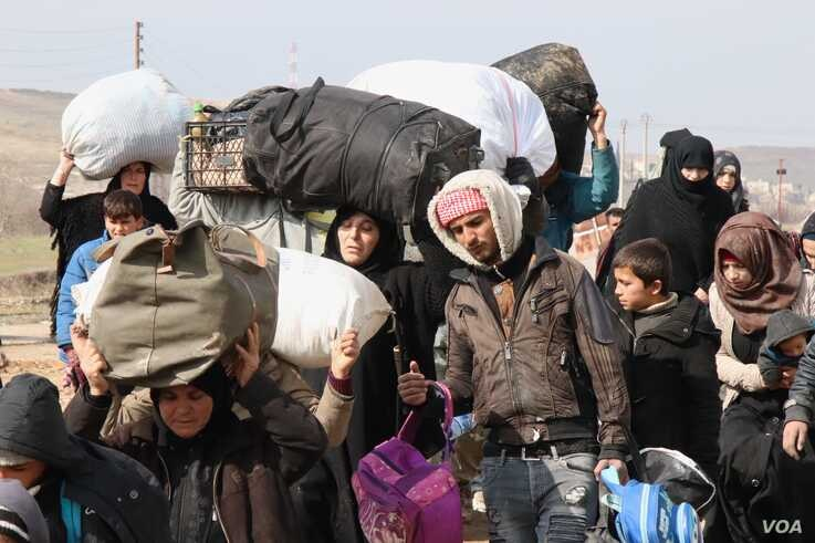 More than half of the population of Syria is displaced, many having fled their homes several times on Feb. 21, 2020 in Manbij, Syria. (H.Murdock/VOA)