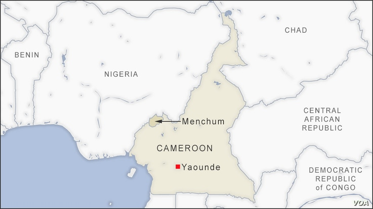 Map of Menchum Cameroon