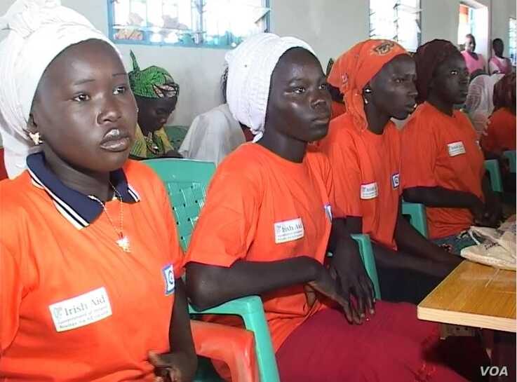 Victims of Boko Haram Receive training and Sewing Machines from the International NGO Plan International. Minawao. (Photo: Moki Edwin Kindzeka)