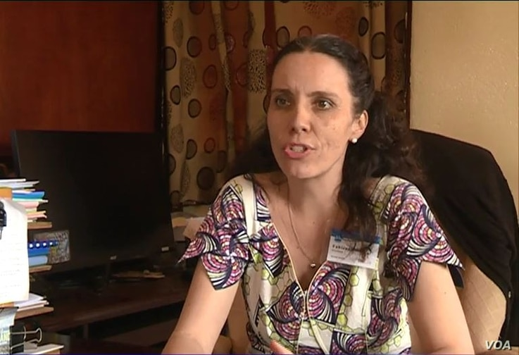 Fabienne Freeland, director general of the nongovernmental organization Summer Institute of Linguistics, helps Cameroon in promoting the teaching of its national languages, in Yaounde, Feb. 21, 2020. (Moki Edwin Kindzeka/VOA)