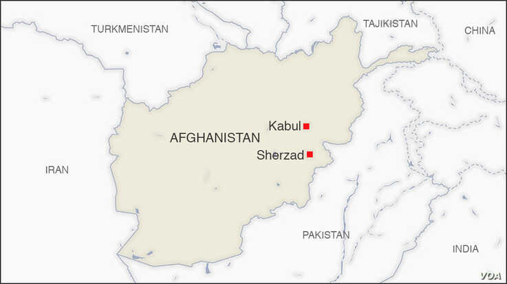 Map of Sherzad Afghanistan