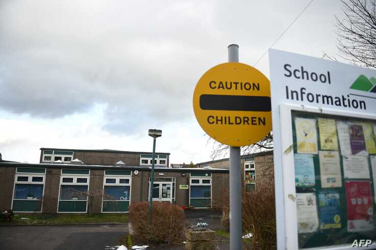 A general view shows Burbage Primary School in Buxton, Derbyshire, England, Feb. 27, 2020. The school has been closed after a student's parent tested positive for the coronavirus.