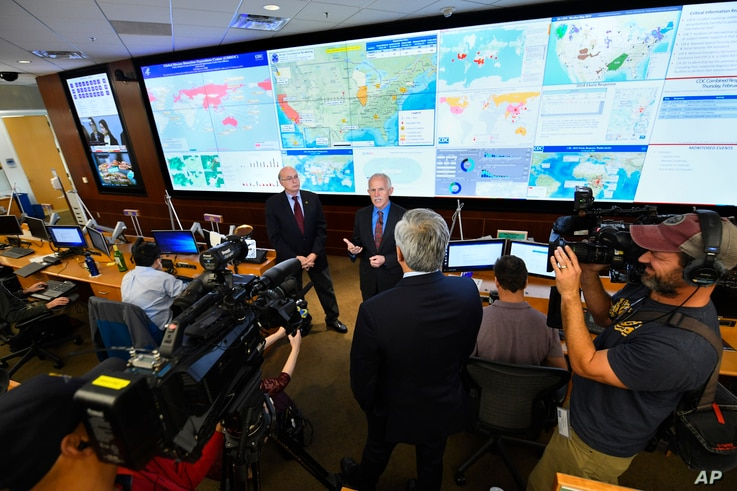 Jay Butler, Deputy Director for Infectious Diseases, addresses the media about response to the 2019 Novel Coronavirusas at the Emergency Operations Center inside The Centers for Disease Control and Prevention (CDC), Feb. 13, 2020, in Atlanta, Georgia.