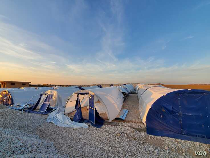 New camps are being set up in anticipation of more mass displacements as the battle for Idlib continues, outside Manbij, Syria, Feb. 20, 2020. (Halan Akoiy/VOA)