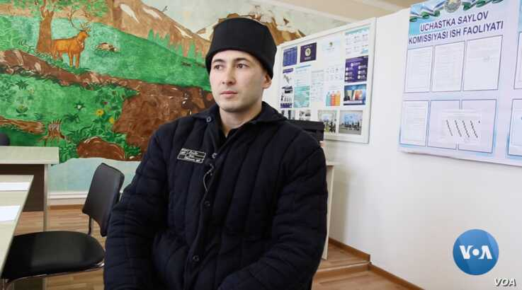 Tohir Komilov, 37, from Tashkent, is serving 15 years for extremism, terrorism, threatening the constitutional order, and several related crimes.  (Navbahor Imamova/VOA)