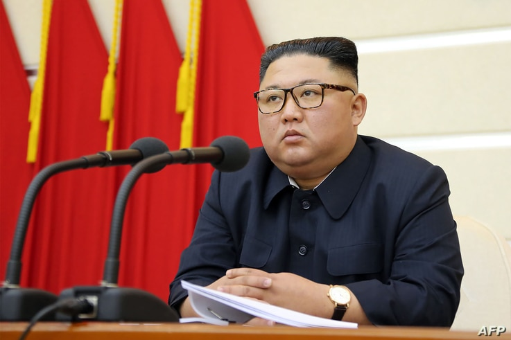 This undated picture released from North Korea's official Korean Central News Agency (KCNA) on February 29, 2020 shows North…