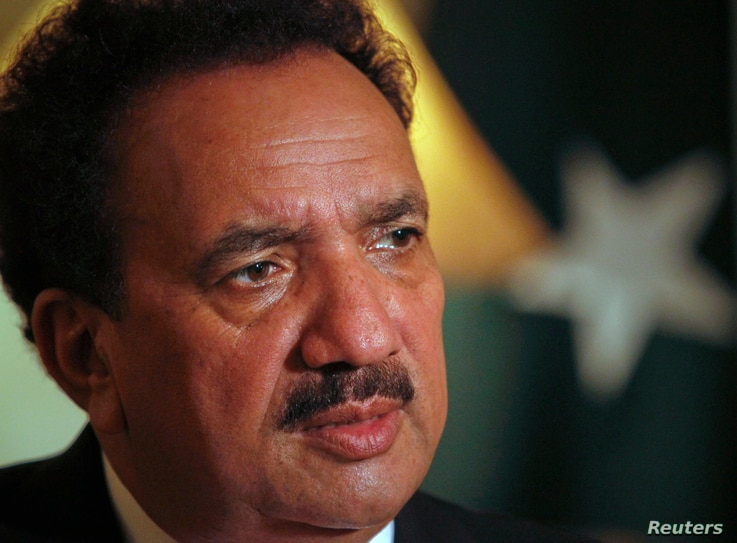 Pakistan's Interior Minister Rehman Malik attends an interview with Reuters in Islamabad September 22, 2011. Pakistan would not…