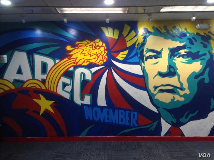 FILE - The U.S. consulate in Ho Chi Minh City had a temporary mural painted in 2017.