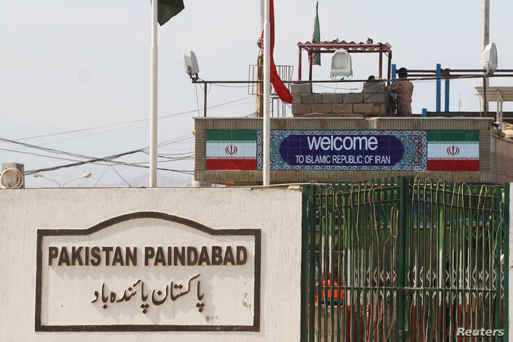 General view of a closed gate at Pakistan and Iran's border posts, after Pakistan sealed its border with Iran following the coronavirus outbreak, at the border post in Taftan, Feb. 25, 2020.