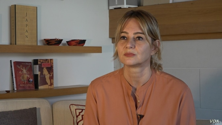 Sanem Oktar is one of the founders of the Deva Party, she believes the party message of rights, democracy and gender equality will resonate within Turkish society. Courtesy Dorian Jones