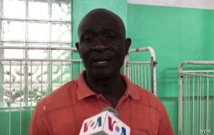 Joseph Lebien has been working at the state-run hospital in Port-au-Prince for 26 years. (Matiado Vilme/VOA Creole)