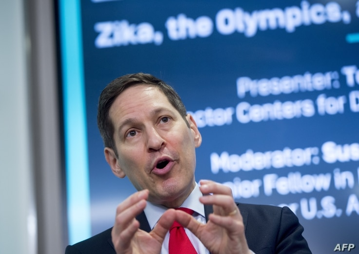 Dr. Tom Frieden, Director of the Center for Disease Control and Prevention (CDC), speaks about the Zika outbreak at the New…