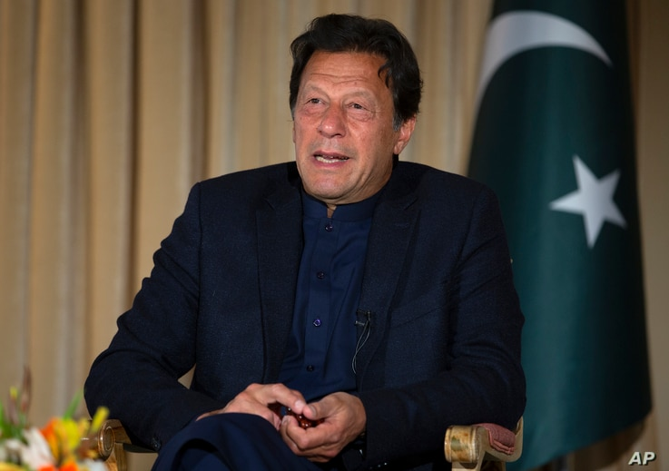Pakistan's Prime Minister Imran Khan in Islamabad, Pakistan, March 16, 2020.
