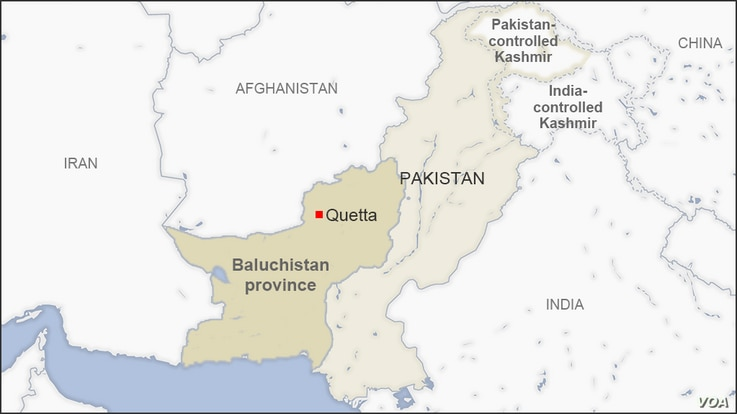 Map of Baluchistan Pakistan