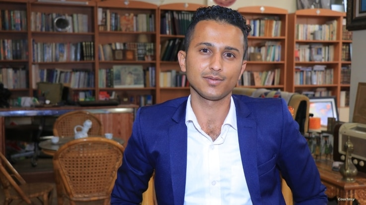 Yemeni journalist Essam Alqadasi, pictured here in 2019, says colleagues are being driven out of the profession. (Photo - Courtesy of Alqadasi)