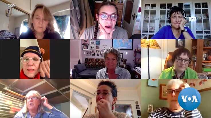 Since social distancing began, this group of women activists, who've known each other since the 1980s, have started meeting weekly using Zoom.