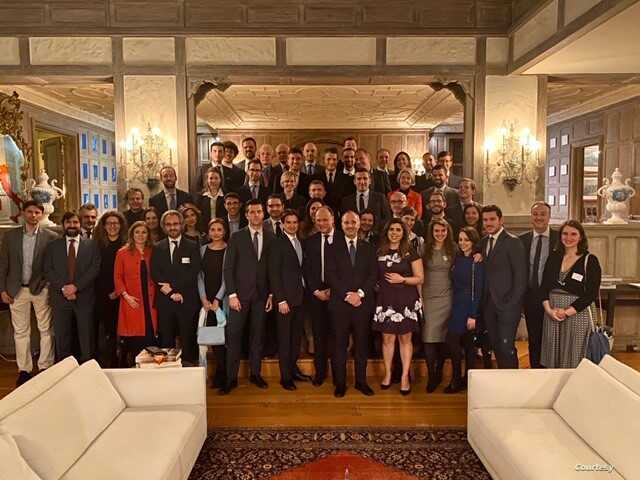 Italian Ambassador to the U.S. Armando Varricchio (center, front) hosted a visiting group from Italy in mid February 2020 at the Ambassador's official residence, known as Villa Firenze, or the Florence Villa, in Washington. (Photo courtesy of Italy Embassy in the U.S.)