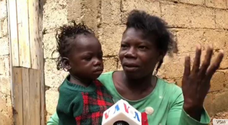 This woman tells VOA locals usually follow the elders' example and treat their children before they treat themselves when they are sick. (Photo: Matiado Vilme / VOA)