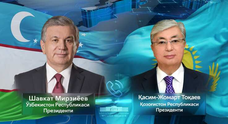 The leaders of Uzbekistan, Shavkat Mirziyoyev, and Kazakhstan, Kassym-Jomart Tokayev, have been in regular contact on COVID-19. (president.uz)