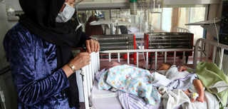 Babies lie in their beds at the Ataturk Children's Hospital a day after they were rescued following a deadly attack on another…