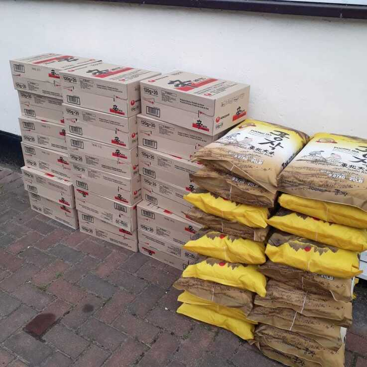 Jihyun Park sent instant noodles and rice to North Korean defectors in Britain who needs support (Source: Connect North Korea)
