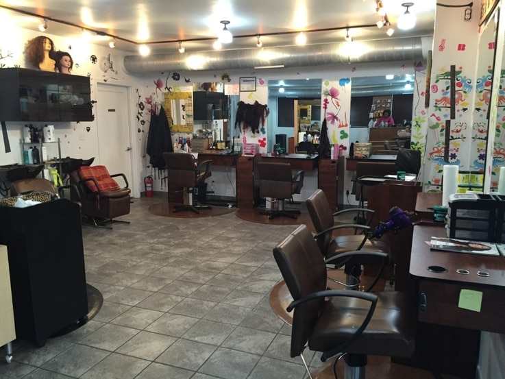 Kemi Lawani's hair salon, Bonitas Extensions and Braids, in Minneapolis, Minnesota.