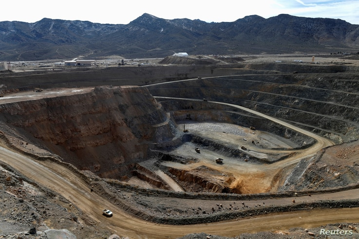 FILE PHOTO: A view of the MP Materials rare earth open-pit mine in Mountain Pass, California, U.S. January 30, 2020. Picture…
