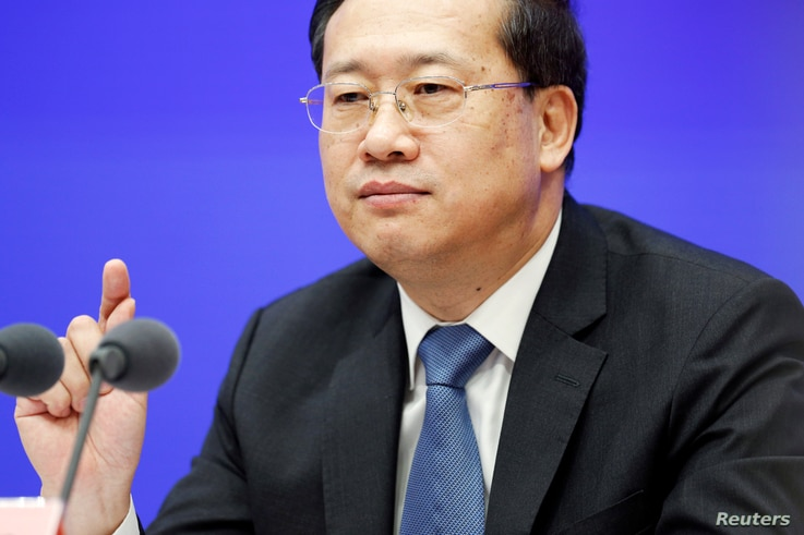 Chinese Vice Foreign Minister Ma Zhaoxu attends the State Council Information Office (SCIO) briefing on the white paper about…