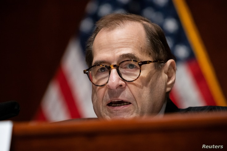"""House Judiciary Chairman Jerry Nadler (D-NY), speaks during a House Judiciary Committee hearing on """"Policing Practices and Law…"""