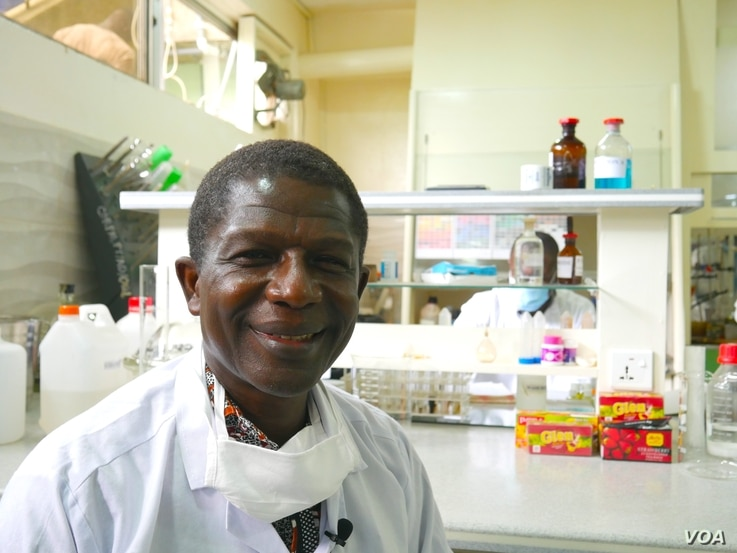 Alfred Ampomah Appiah, Deputy Chief Executive at the Center for Plant Medicine Research, says the center is researching plant-based remedies for COVID-19, in Ghana, May 27, 2020. (Stacey Knott/VOA)