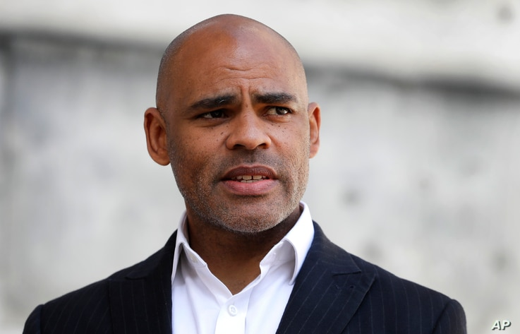 The Mayor of Bristol, Marvin Rees speaks to the press in Bristol, England,  June 8, 2020., following the…