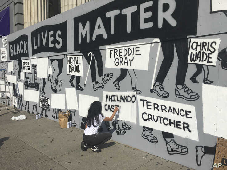 Photo by: STRF/STAR MAX/IPx 2020 6/10/20 Murals appear throughout New York City in response to the wrongful death of George…