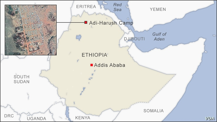 Map of Adi-Harush Camp, Ethiopia