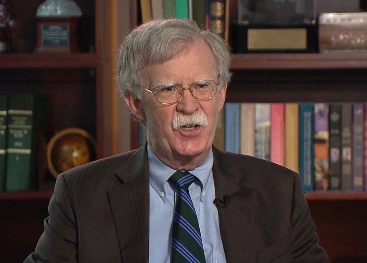 Former US National Security Advisor John Bolton talks to VOA, June 24, 2020.